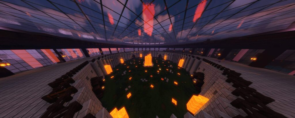 arena pvp z serwera minecraft survival lakemc